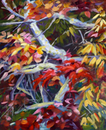 "Lorrie Herman - oil ""Asheville Tree"""