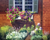 "Lorrie  Herman - oil ""Popping Petunias"""