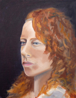 "Lorrie Herman - Portrait  ""Victoria"" oil"
