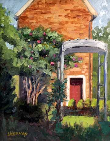 "Lorrie Herman ""Quiet Myrtle"" plein air oil"