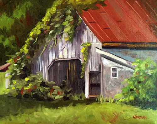lorrie herman Turner Farm Oldie oil plein air